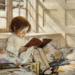 A Girl Reading by Jessie Wilcox Smith