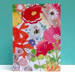 Bee Floral Badge Card by Lindsay Marsden