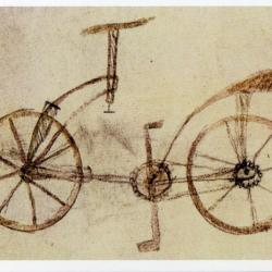 Bicycle Design 1495 by Leonardo Da Vinci