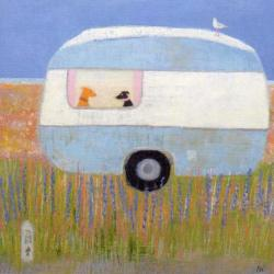 Blue Caravan Dungeness by Anna Wilson-Patterson