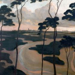 Blythburgh Estury Suffolk by Roger Fry
