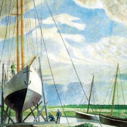 Boatyard, June 1938 by Eric Ravilious