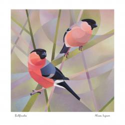 Bullfinches by Alison Ingram