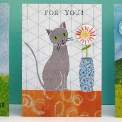 Cat For You Badge Card by Lindsay Marsden