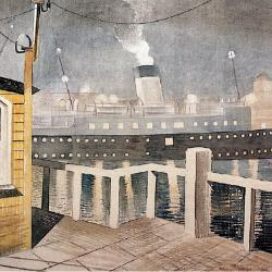 Channel Steamer Leaving by Eric Ravilious