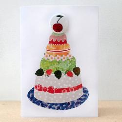 Cherry Cake Badge Card by Lindsay Marsden