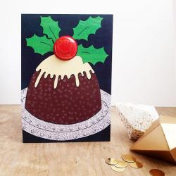 Christmas Pud Badge Card