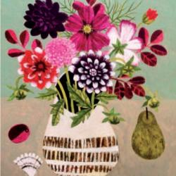 Dahlias and Pear by Vanessa Bowman