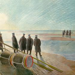 Dangerous Work at Low Tide by Eric Ravilious