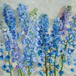 Delphiniums by Anne Marie Butlin