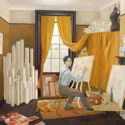 Edward Bawden Working in His Studio by Eric Ravilious