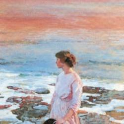 Evening on the Beach by Dame Laura Knight