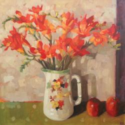 Freesias by Anne Marie Butlin