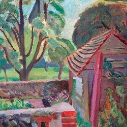 Garden at Monks House Sussex by Vanessa Bell