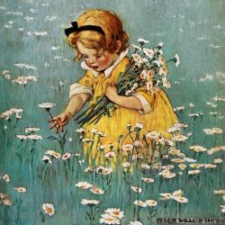 Gathering Flowers in the Meadow by Jessie Willcox Smith