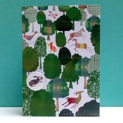Green Woodland Badge Card by Lindsay Marsden