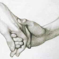 Hand of Dante by Dante Gabriel Rossetti