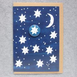 Happy Stars Badge Card by Lindsay Marsden