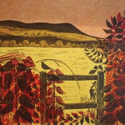 Hedgerow and Downs No3 by Robert Tavener