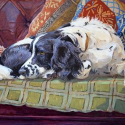 Holly on the Sofa by Andrew Haslen