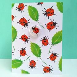 Ladybird badge card by Lindsay Marsden