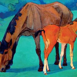 Mare and Foal by Robert Polhill Beven