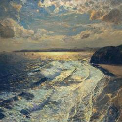 Moonlit Shore by Albert Julius Olsson