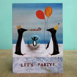 Party Penguins Badge Card by Lindsay Marsden