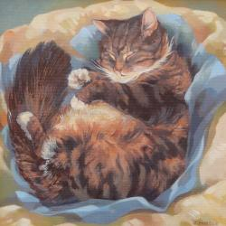 Puss Asleep by Carole Hubble