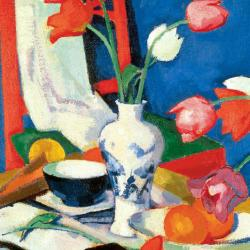 Red Chair and Tulips by Samuel John Peploe