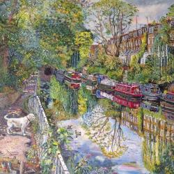 Regents Canal with Joey by Melissa Scott-Miller