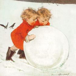 Rolling the Snowball by Muriel Dawson