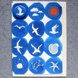 Seaside Badge Card by Lindsay Marsden