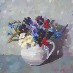 Spring Flowers and Forget me nots