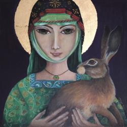 St Melangell & the Hare by Jemima Jameson