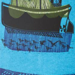 Sussex Boats and Nets (No 5) by Robert Tavener