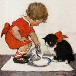 Teatime for Kitty by Jessie Willcox Smith