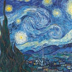 The Starry Night - June 1889 by Vincent Van Gogh