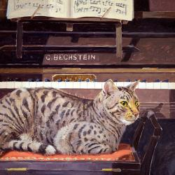 Tigger at the Piano by Andrew Haslen