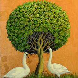Two Swans by Marcelle Milo-Gray