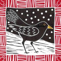 Winter Blackbird by Anna Pye