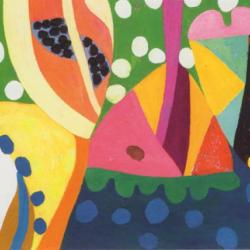 Suns of Seven Circles Shine by Gillian Ayres