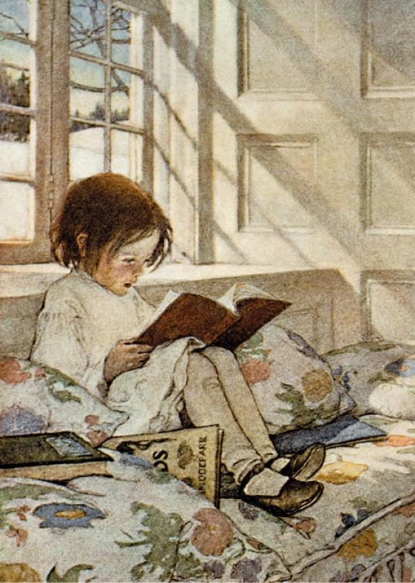 A Girl Reading by Jessie Wilcox Smith