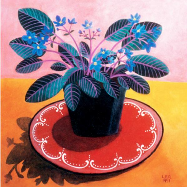 African Violets by Lucy Raverat