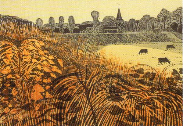 Alfriston from River by Robert Tavener
