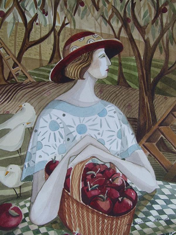 Apple Basket by Madeleine Hand
