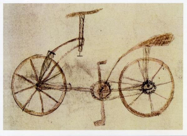 Bicycle Design 1495 by Leonardo Da Vinci