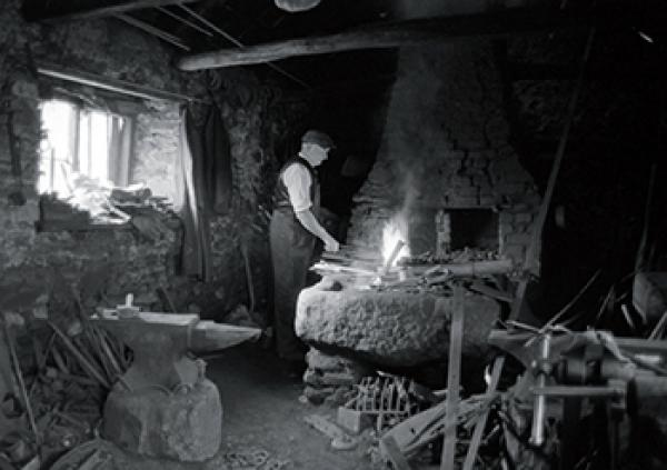 George Ellis, Blacksmith in the forge by James Ravilious