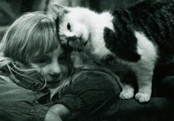 Catherine White and Kitty by Catherine Sarsby