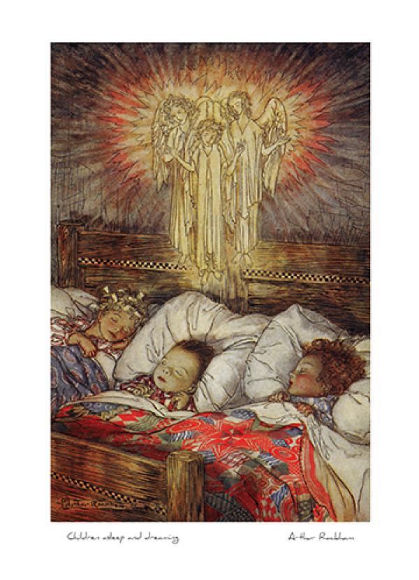 Children asleep and dreaming by Arthur Rackham